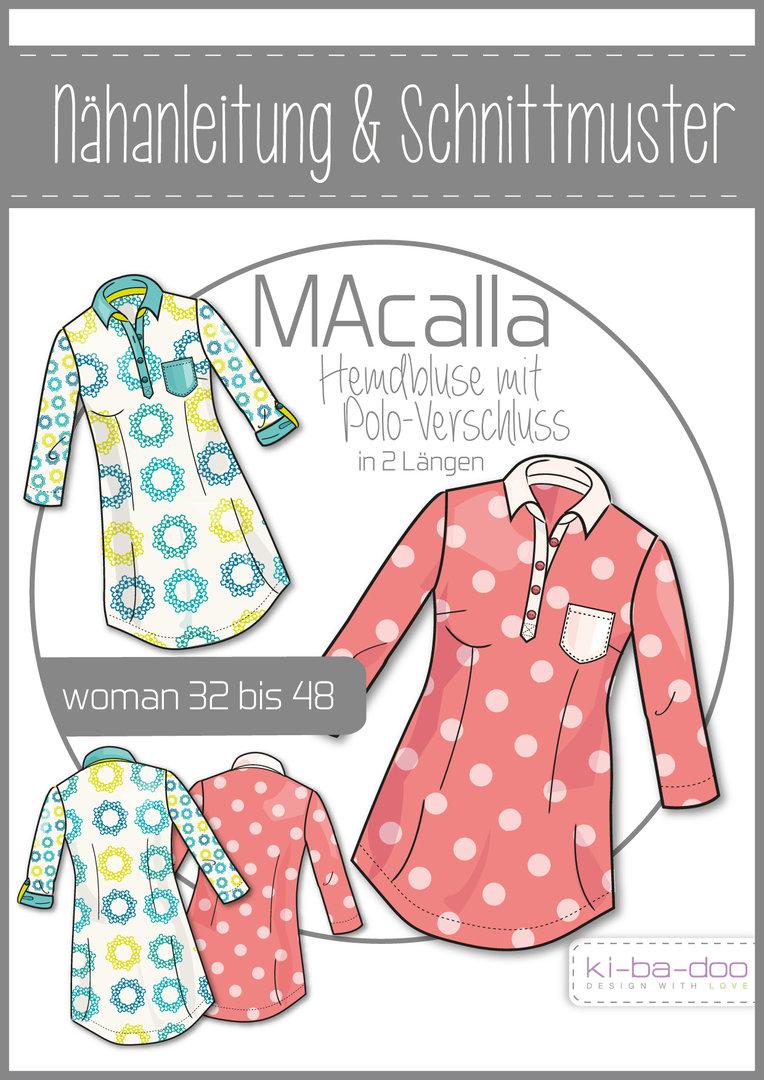 KI-BA-DOO MAcalla Hemdbluse Damen Papierschnittmuster