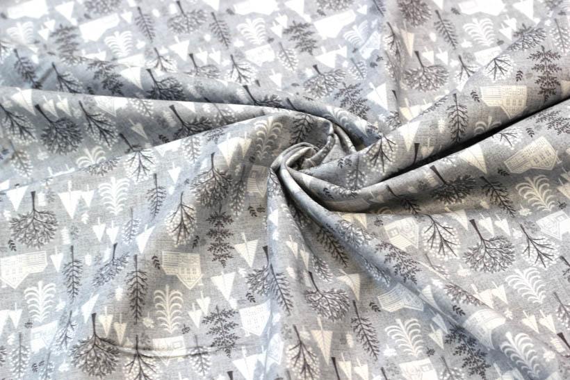 Dekostoff aus Baumwolle - Scenic grau von Hilco