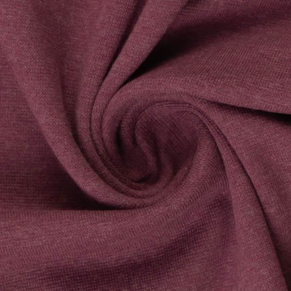 Schlauchware melierte Bio-Bündchen in lila | SWAFING