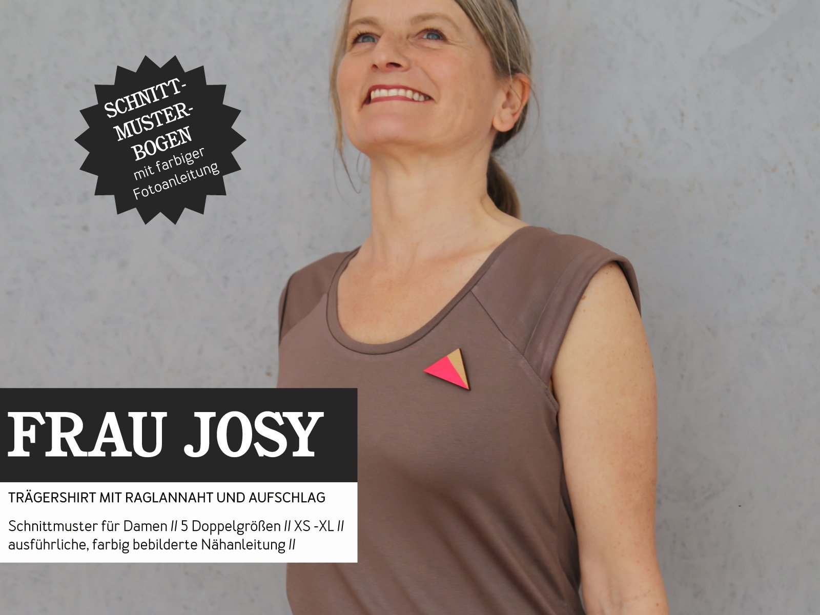 STUDIO SCHNITTREIF Frau Josy Trägershirt - Papierschnittmuster