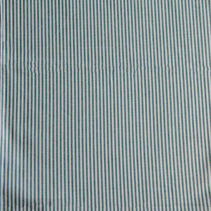 Webware Baumwolle - Ida Stripe in türkis von Hilco