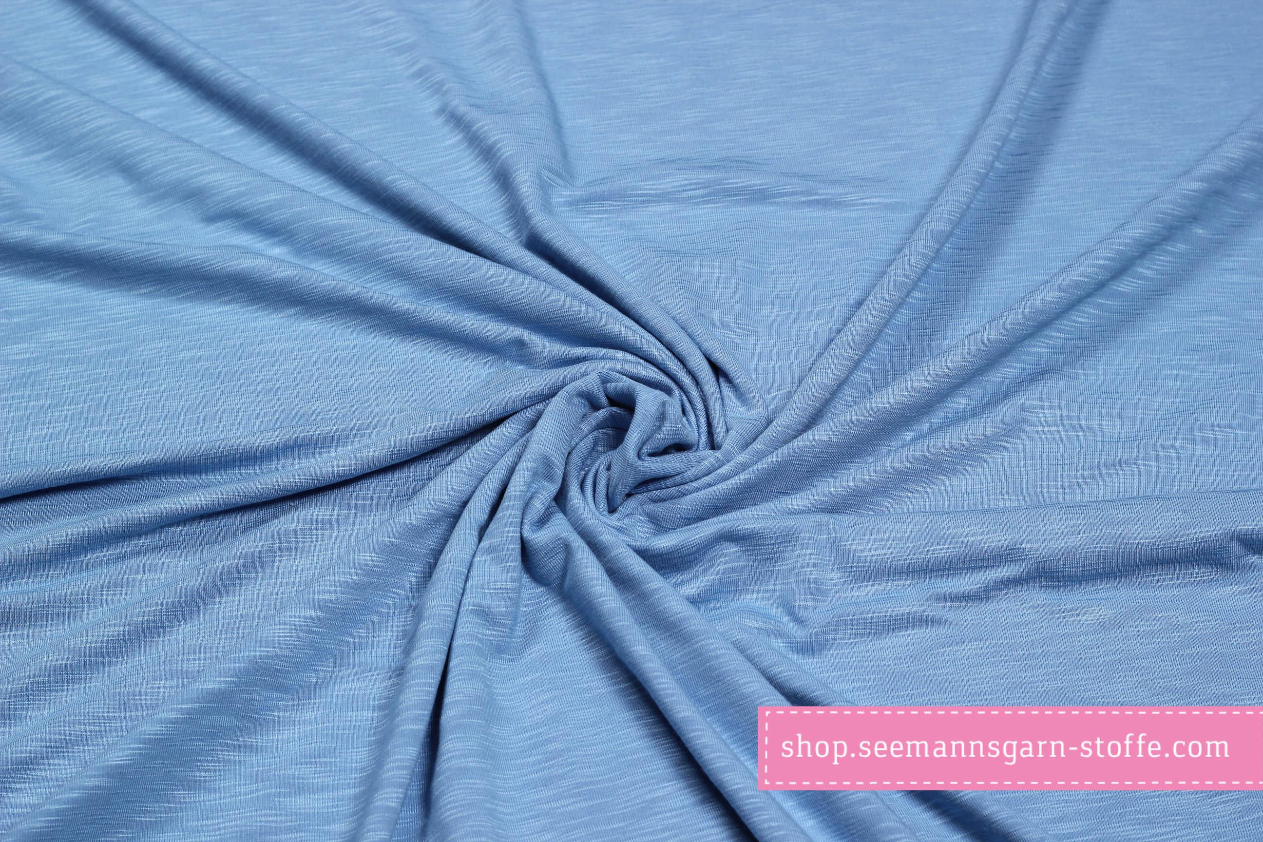 Viskose Stretch Jersey - blau