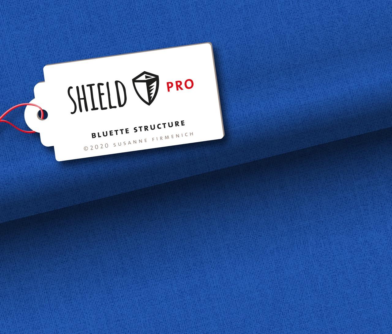 Shield Pro - Uni Structure in bluette von Hamburger Liebe & Albstoffe - antimikrobiell für Atem-und Mundmasken!
