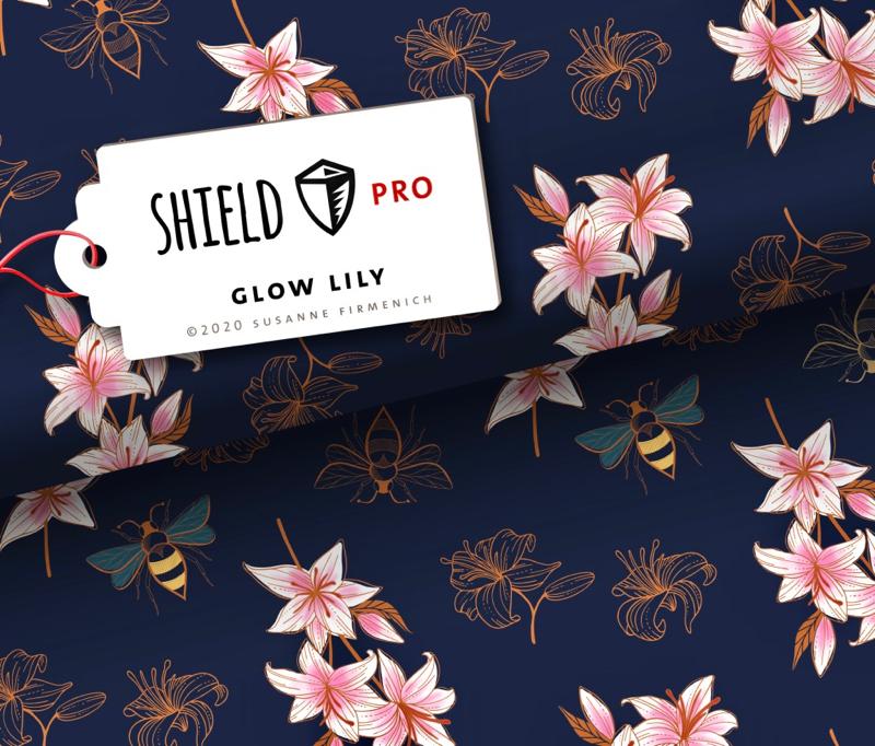 Shield Pro - Glow Lily von Hamburger Liebe & Albstoffe - antimikrobiell für Atem-und Mundmasken!