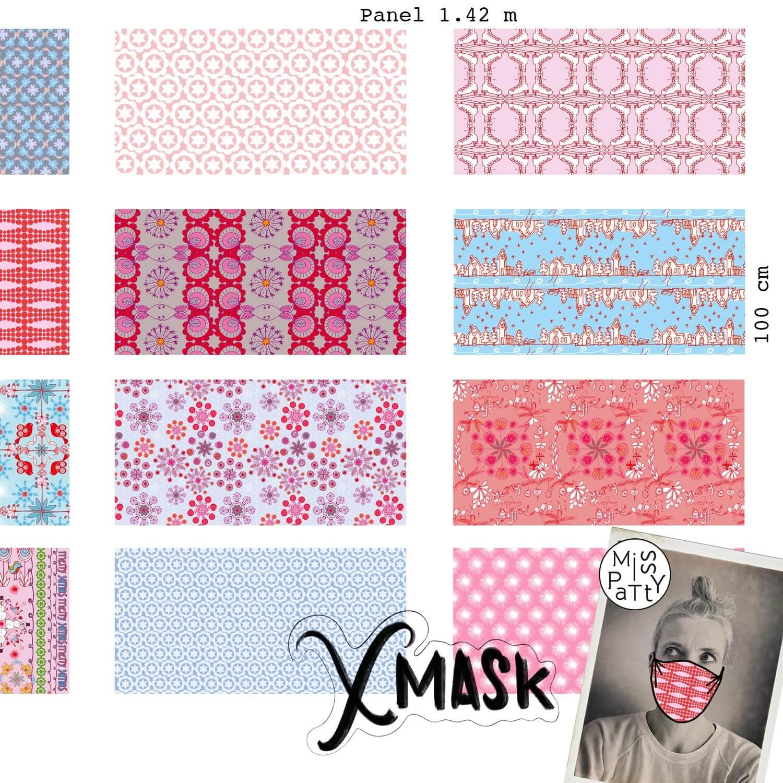 Bio-Baumwolle Panele Xmask für Gesichtsmasken von Lillestoff