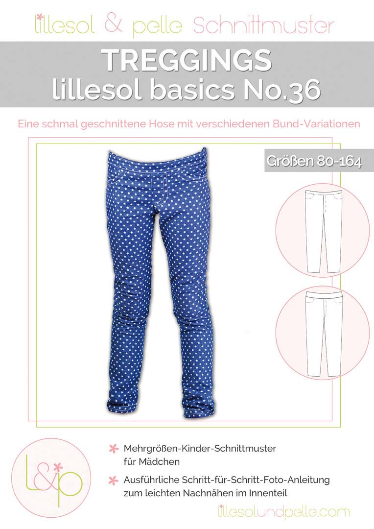 lillesol & pelle Treggings Papierschnittmuster