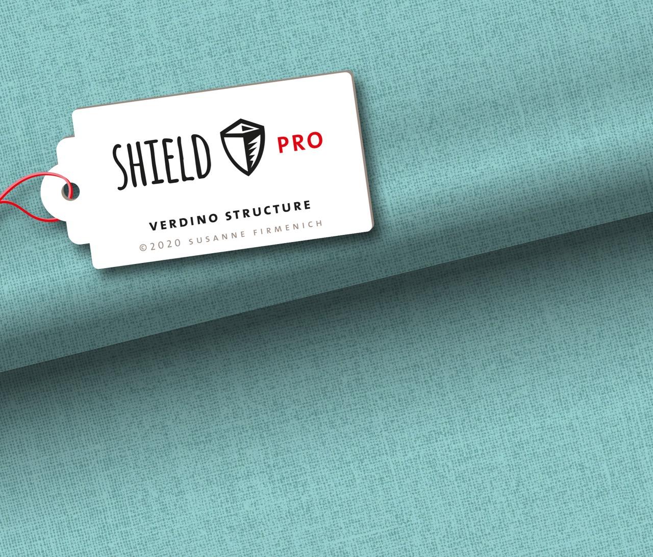 Shield Pro - Uni Structure in verdino von Hamburger Liebe & Albstoffe - antimikrobiell