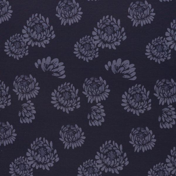 Jersey - Jesse Blüten dunkelblau von Swafing