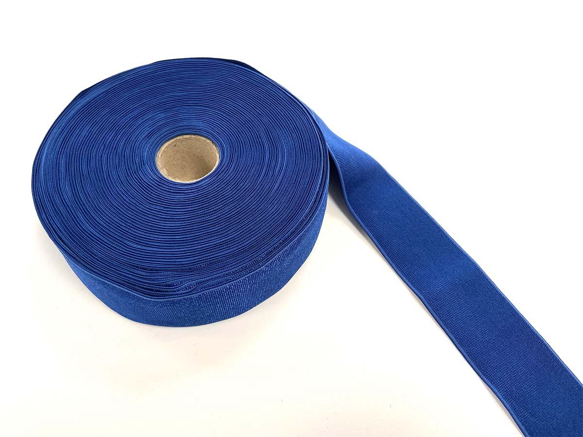 Gummiband glänzend,  4cm in blau