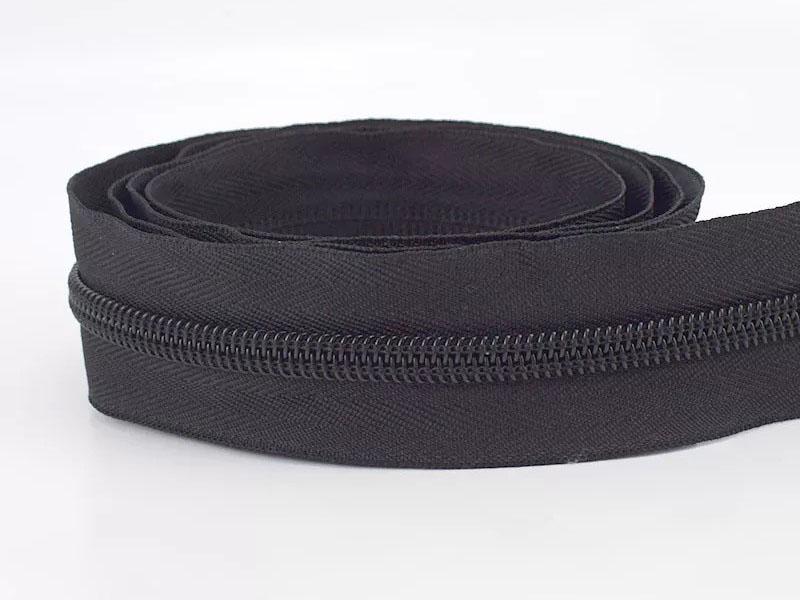 Reißverschluss endlos 1m in schwarz