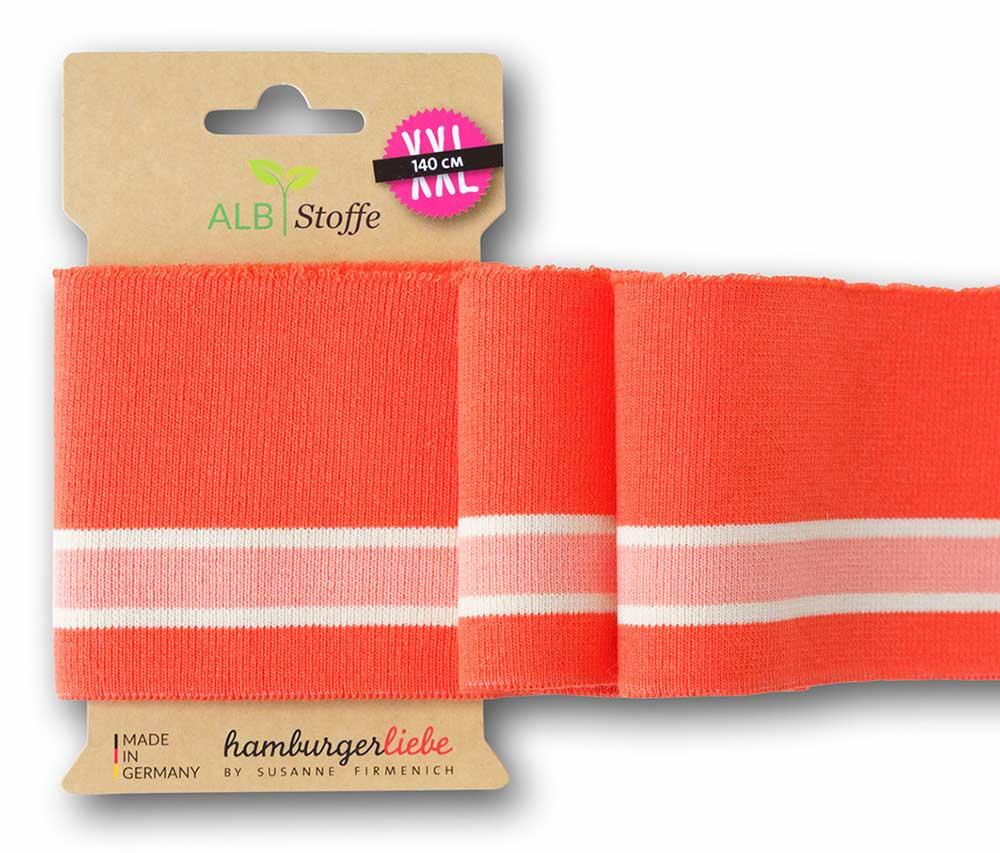 Cuff Me College Ahoy in orange von Albstoffe und Hamburger Liebe
