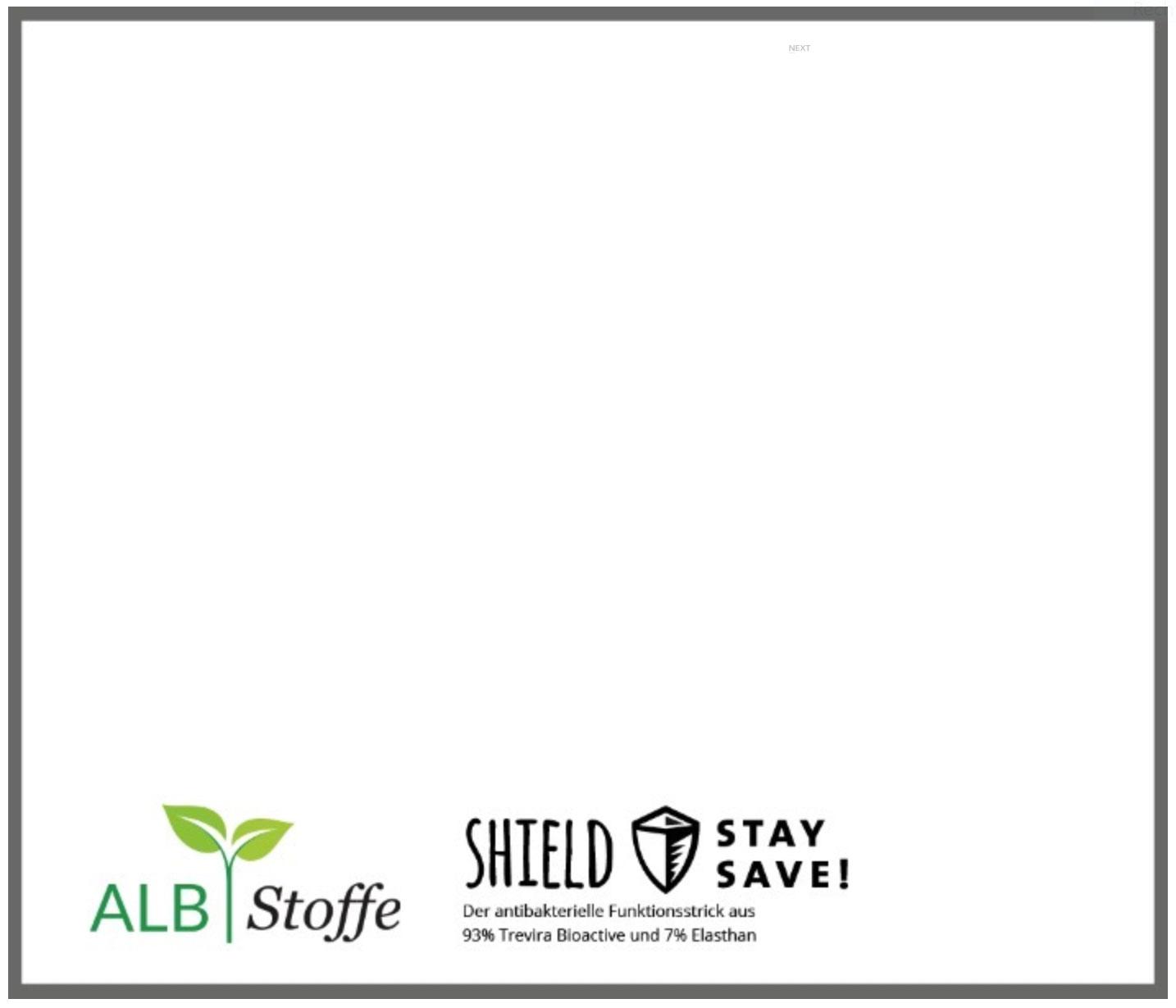 Shield Jersey - weiß antimikrobiell für Atem-und Mundmasken!