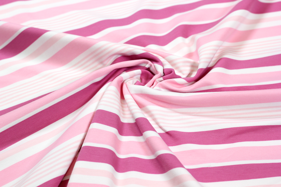 "Jersey - ""Different stripes"" in rosa/beere
