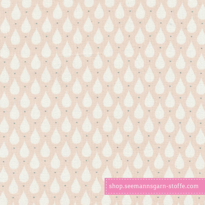 Wachstuch - Oilcloth Teardrops Soft Rose  von Au Maison