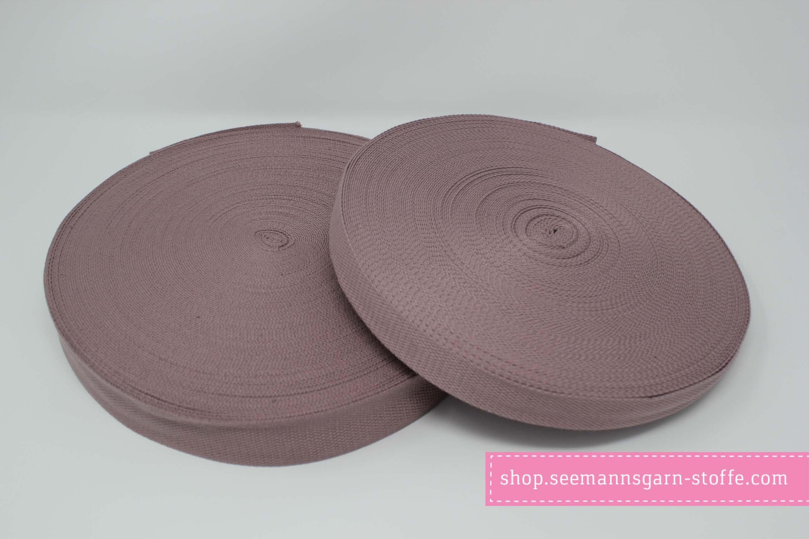 Baumwoll Gurtband lila 25 mm