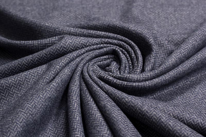 "Mantelstoff - Tweed ""Diego"" in blau/grau   SWAFING"