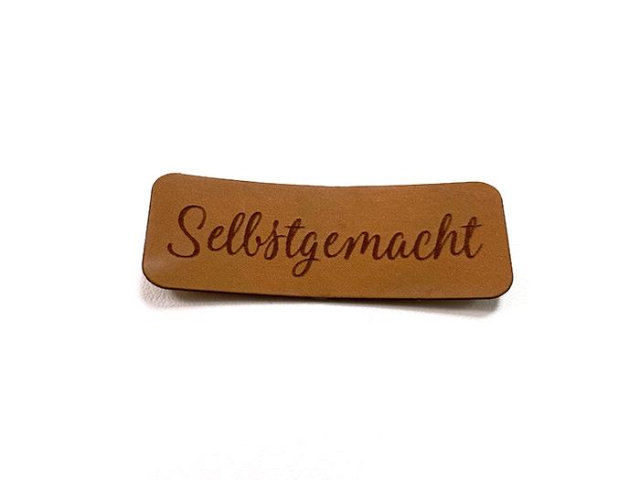 Label aus Kunstleder - Selbstgemacht