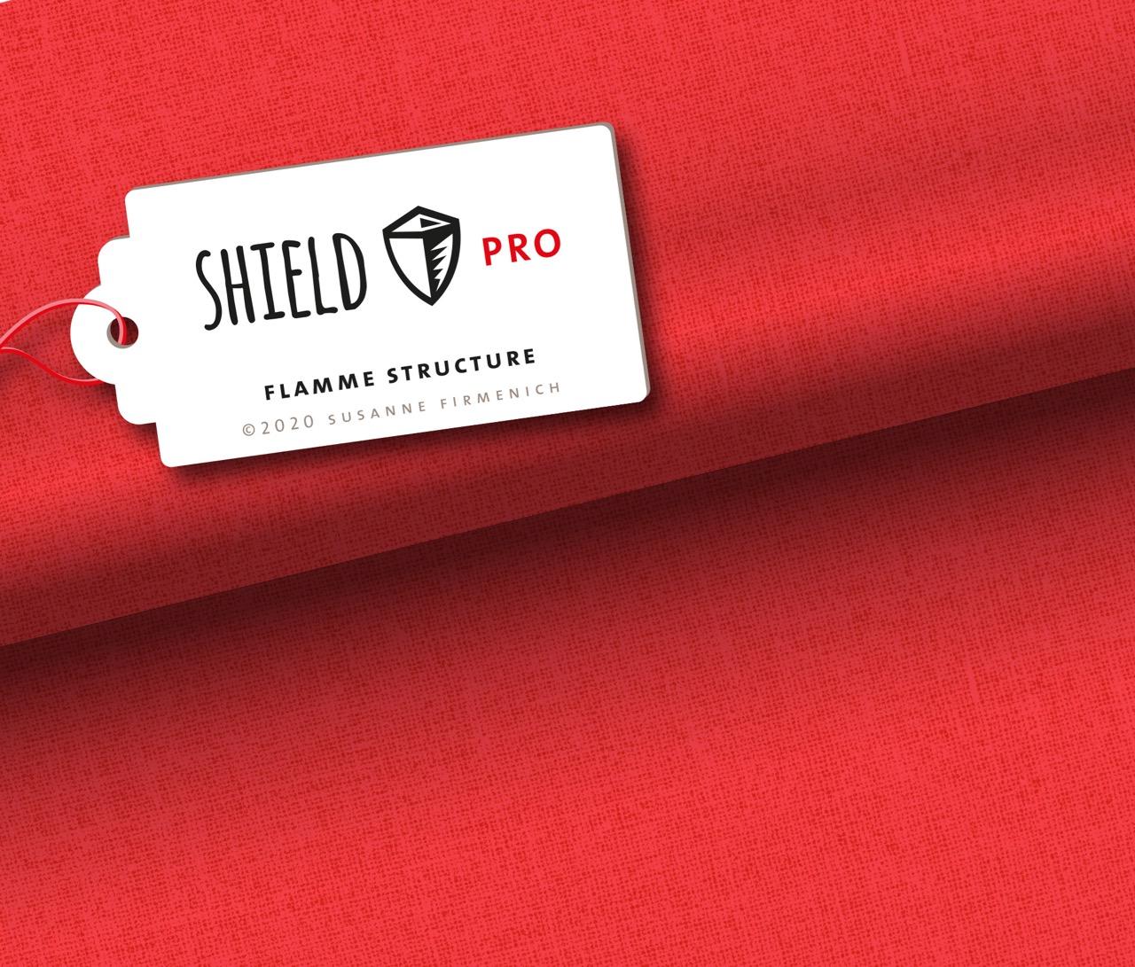 Shield Pro - Uni Structure in flamme von Hamburger Liebe & Albstoffe - antimikrobiell