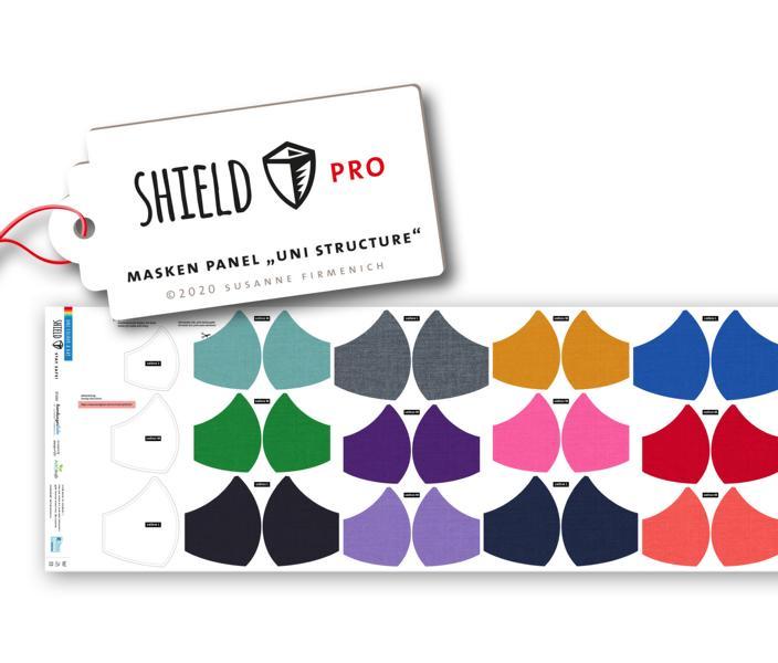 Shield Pro - Panel Uni Structure rund von Hamburger Liebe & Albstoffe - antimikrobiell für Atem-und Mundmasken!