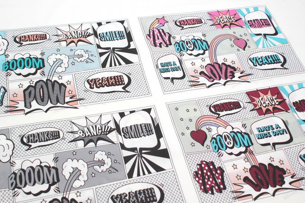 Bio-Baumwolle Panele Comicmasken für Gesichtsmasken von Lillestoff