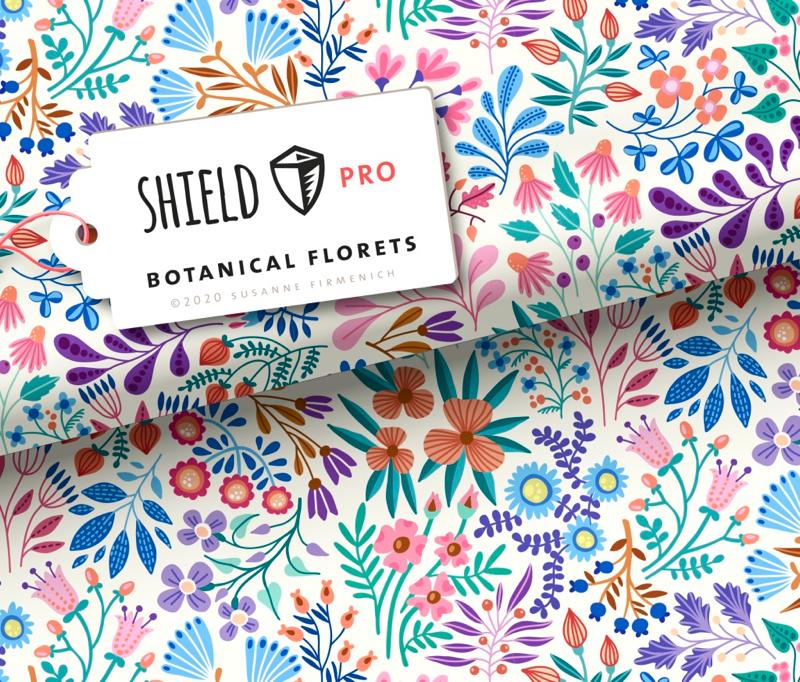 Shield Pro - Botanical Florets von Hamburger Liebe & Albstoffe - antimikrobiell für Atem-und Mundmasken!