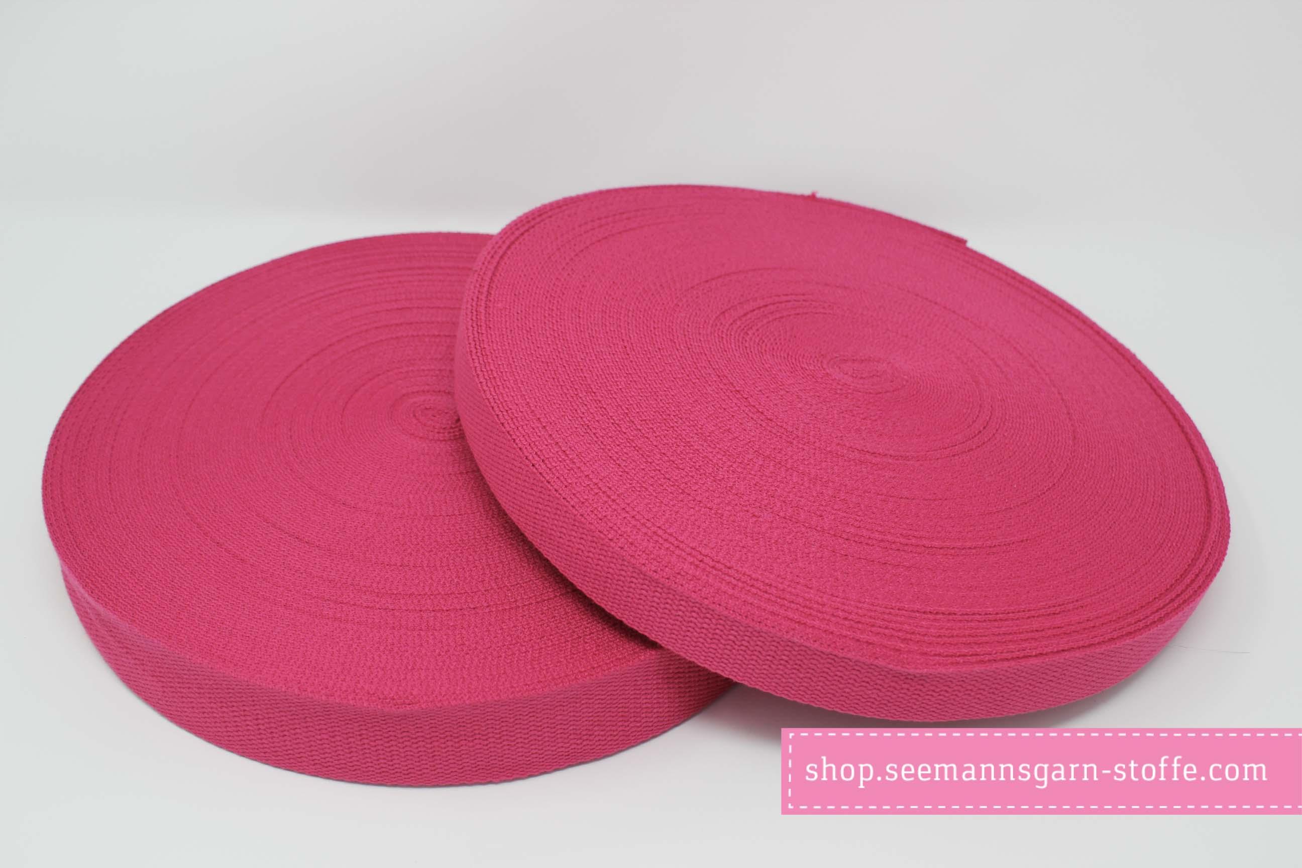 Baumwoll Gurtband pink 38 mm