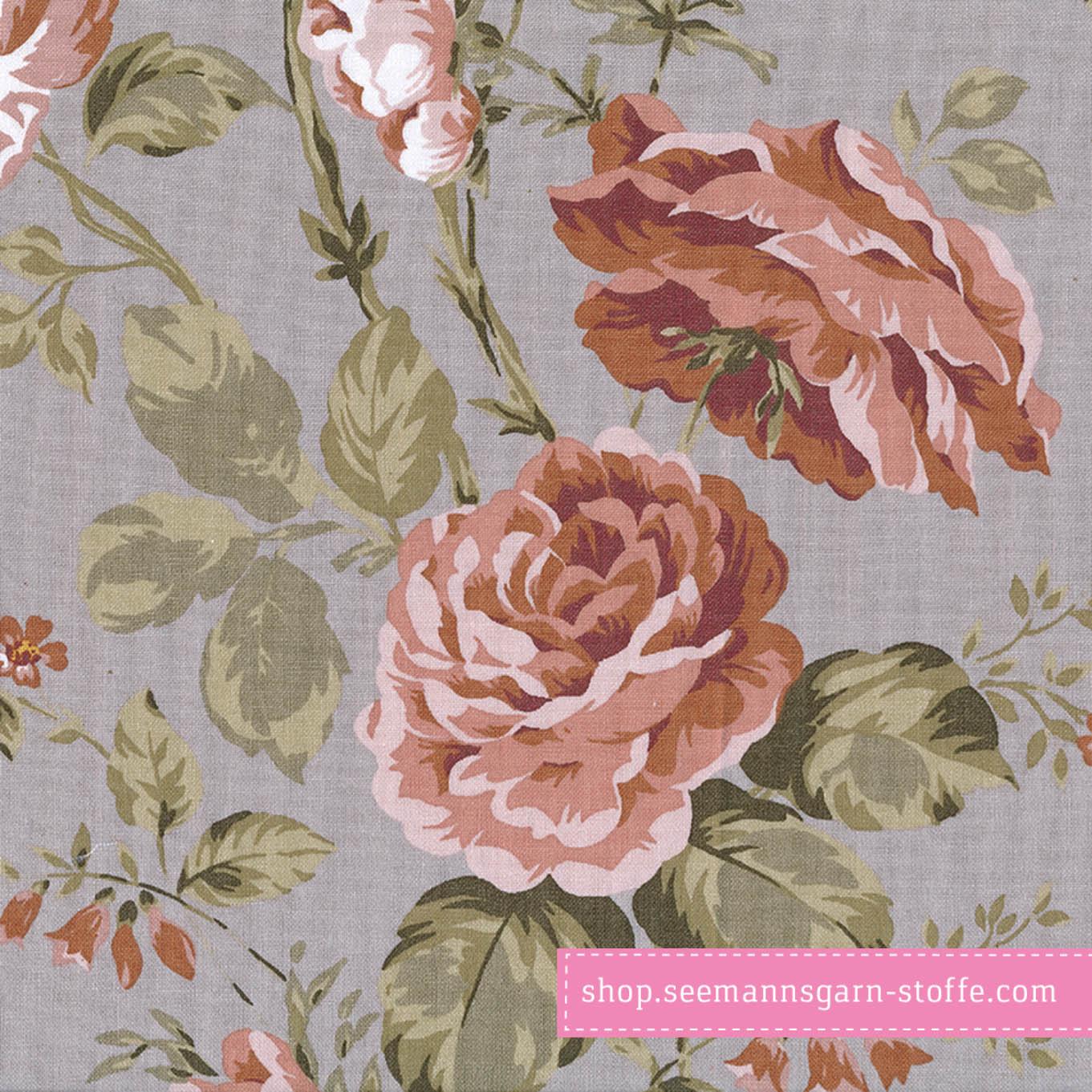 Wachstuch - Oilcloth Sophia Grey