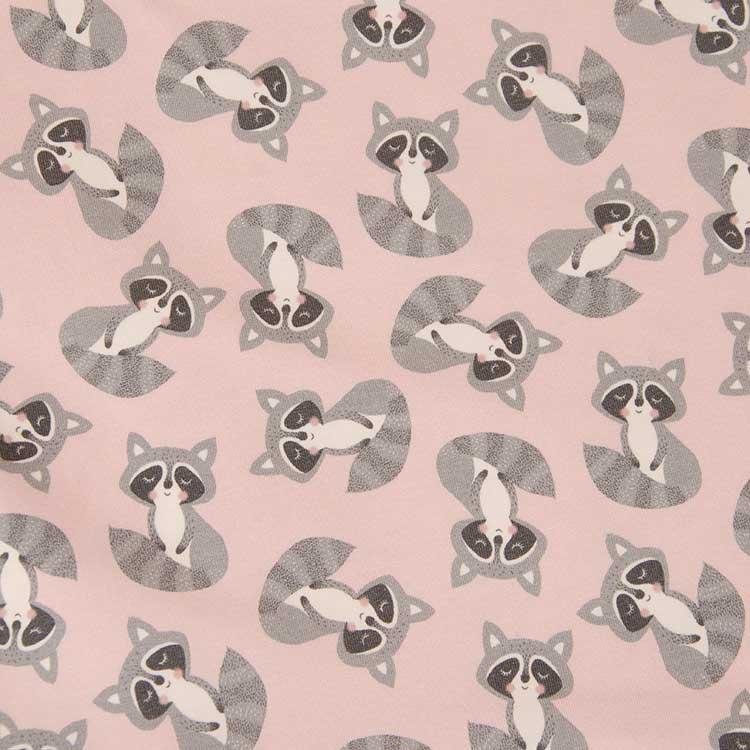 Jersey - Baby Friends rosa mit Waschbär von Hilco