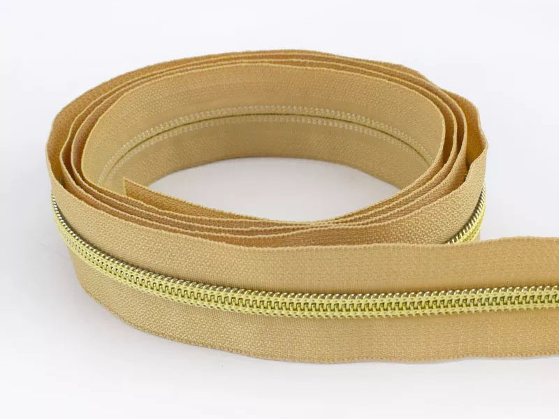 Reißverschluss endlos 1m in ocker/gold
