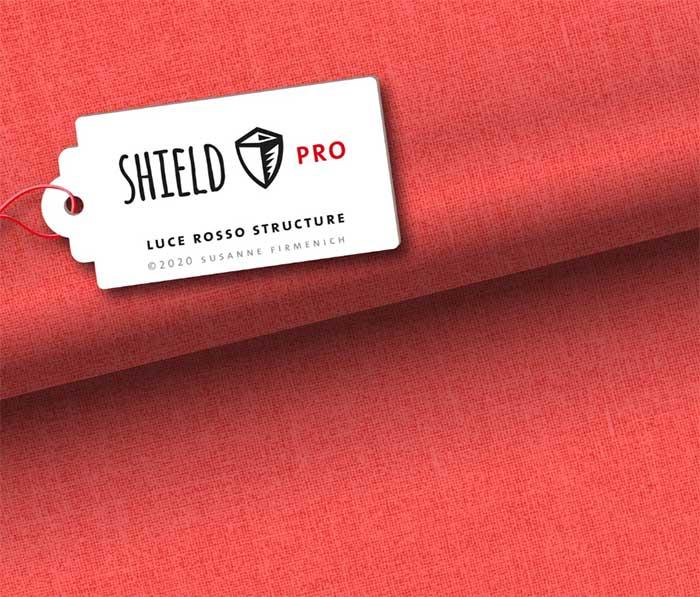 Shield Pro Jersey Uni Structure in luce rosso rot von Hamburger Liebe und Albstoffe