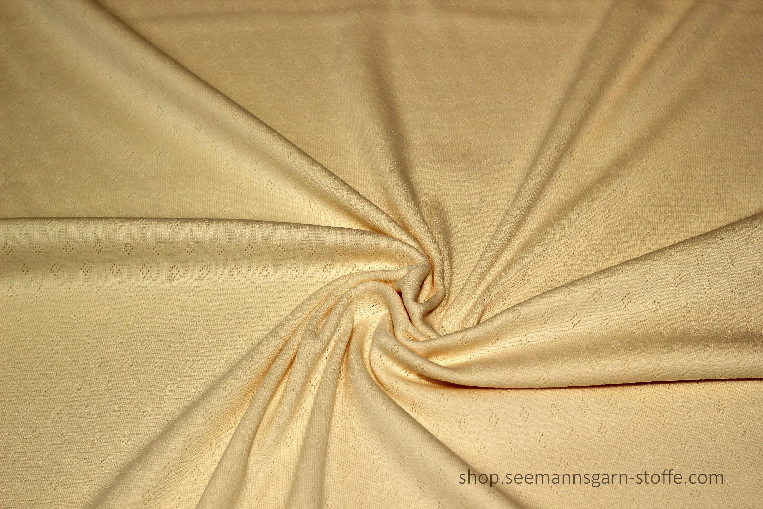 Jersey - ajoure uni creme/beige