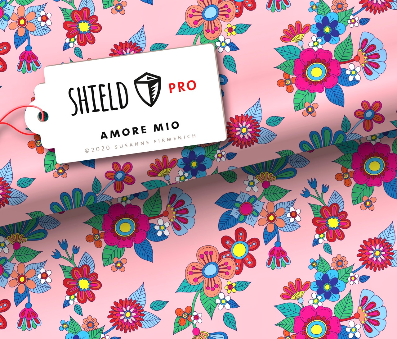 Shield Pro - Amore Mio von Hamburger Liebe & Albstoffe - antimikrobiell für Atem-und Mundmasken!