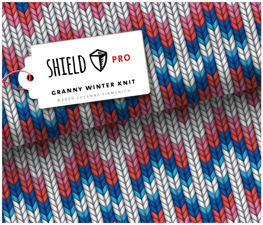 Shield Pro - Granny Winter Knit von Hamburger Liebe & Albstoffe - antimikrobiell