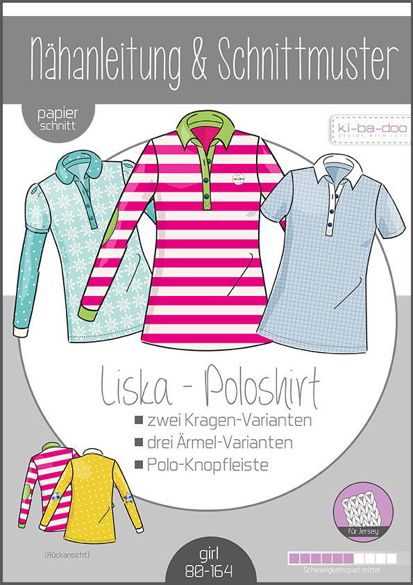 KI-BA-DOO Liska Poloshirt Papierschnittmuster