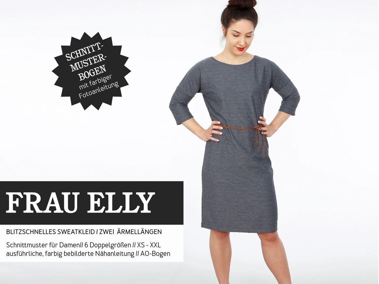STUDIO SCHNITTREIF Frau Elly Sweatkleid- Papierschnittmuster