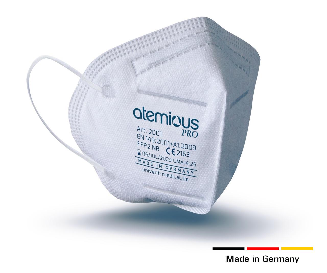 FFP2 Masken MADE IN GERMANY – CE Zertifiziert – atemious pro