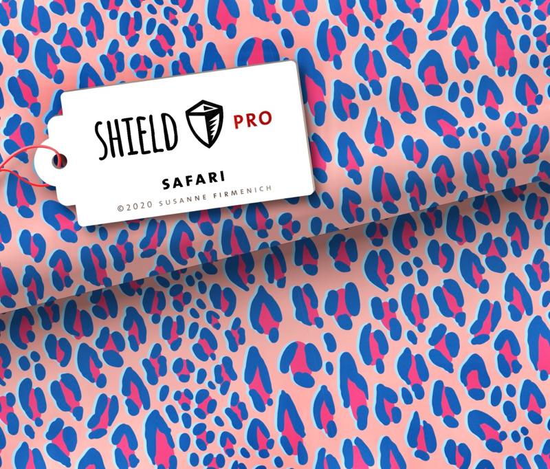 Shield Pro - Safari pink von Hamburger Liebe & Albstoffe - antimikrobiell für Atem-und Mundmasken!