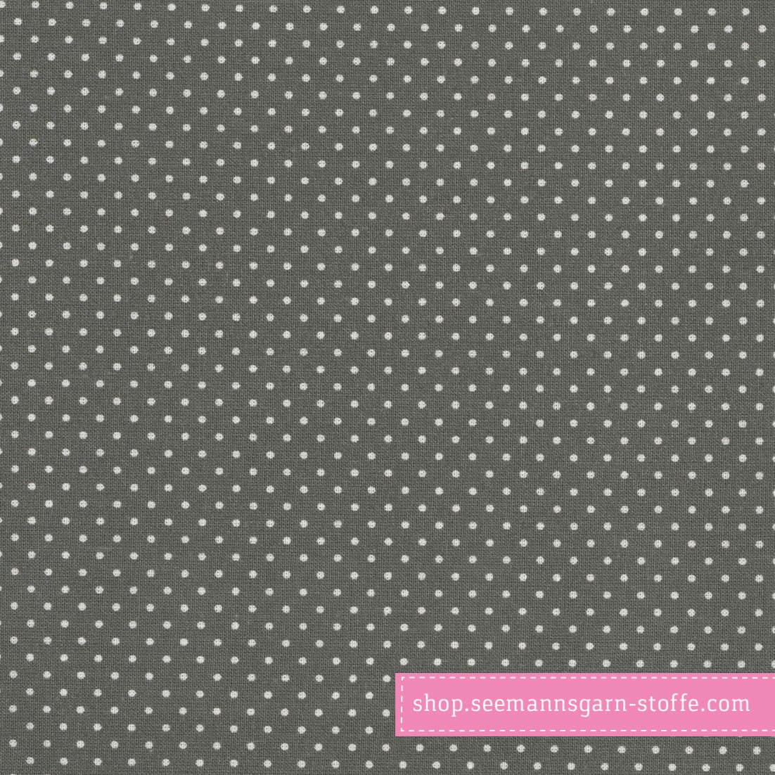 Wachstuch - Oilcloth Dots Charcoal