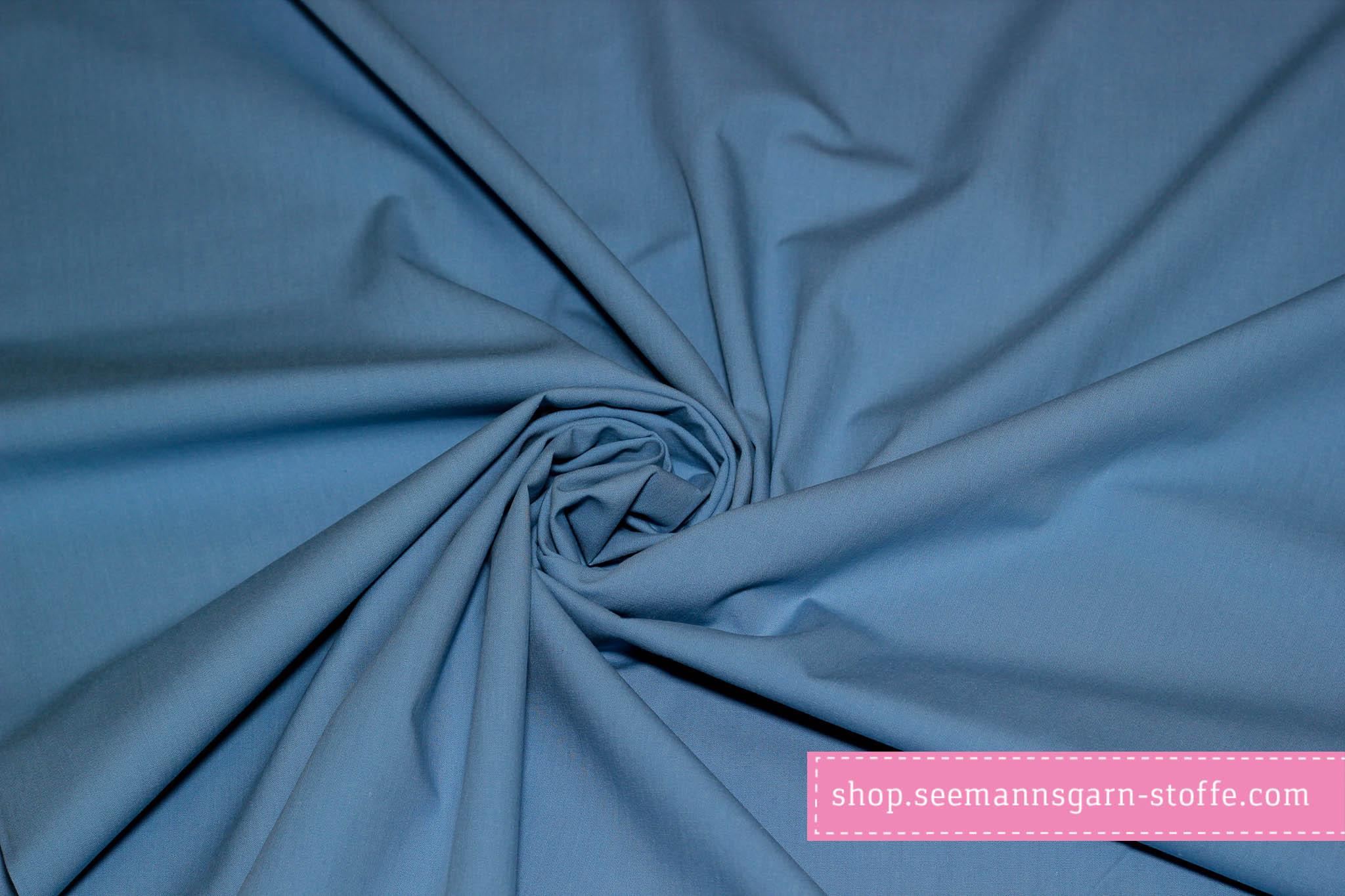 Webware Baumwolle - blau uni