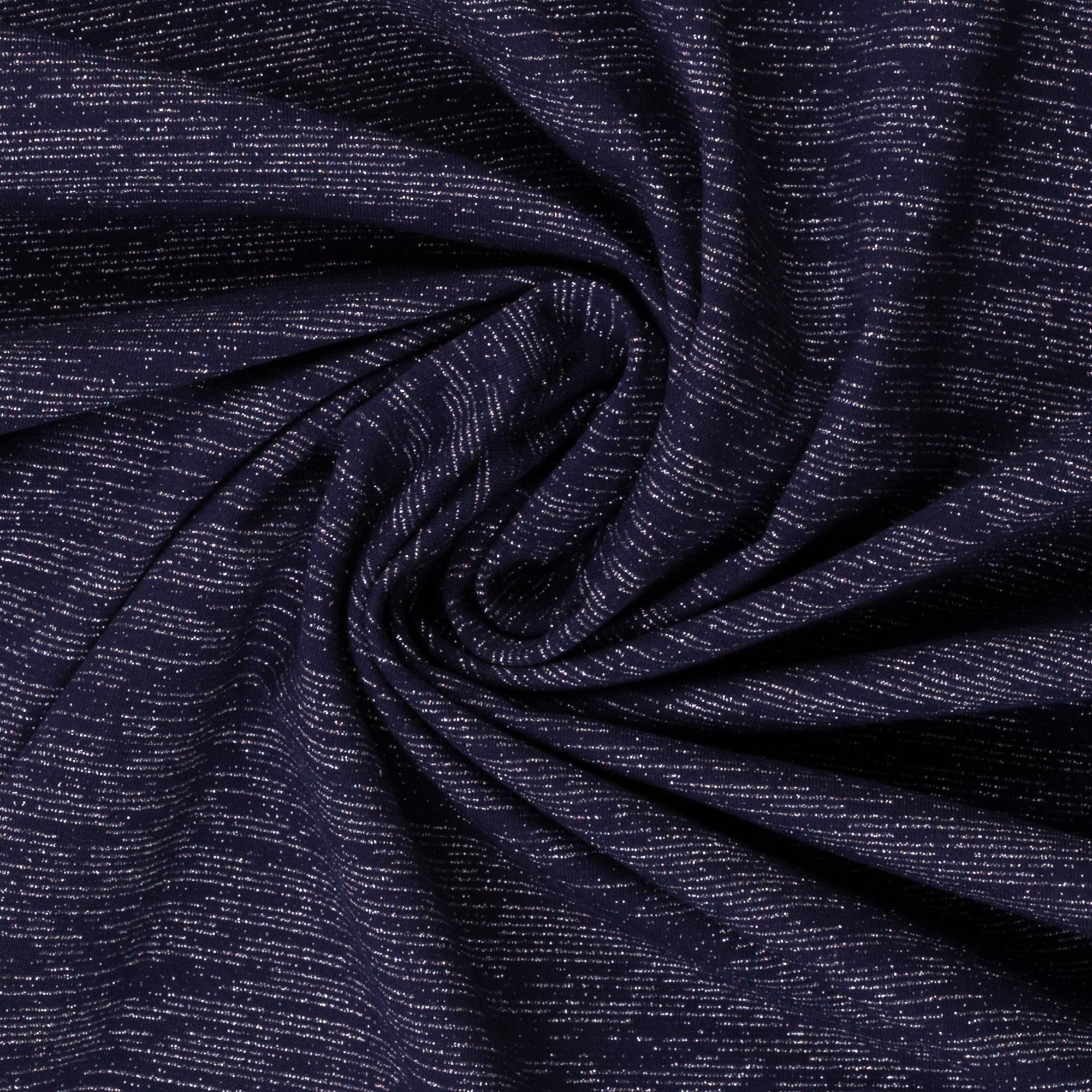 Angerauter Sweat  in blau mit silbernen Streifen von Swafing kaufen!